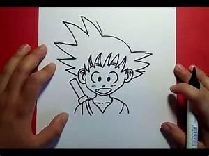 Como dibujar a Goku paso a paso Dragon ball PintayCrea over blog