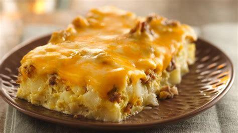 egg bake casserole recipe overnight tex mex egg bake recipe bettycrocker com