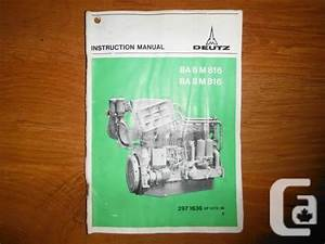 Khd Deutz Diesel Engine Guide Ba 6m 816  U0026 Ba 8m 816