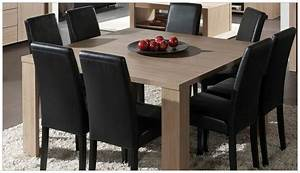 table carree 8 personnes hoze home With salle a manger 8 personnes