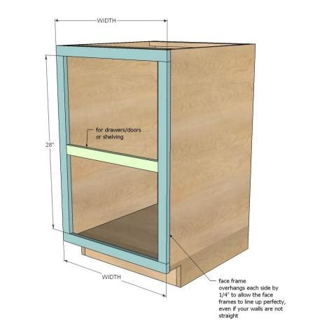 how to build open cabinets ana white build a face frame base kitchen cabinet