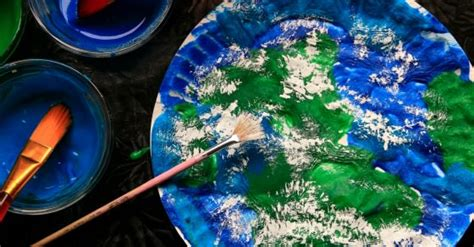 puffy paint earth day craft  kids happy hooligans