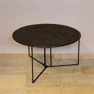 Table Basse Metal Ronde : table basse ronde metal le bois chez vous ~ Teatrodelosmanantiales.com Idées de Décoration