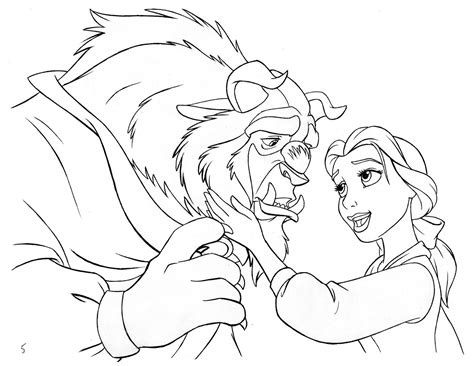 Kleurplaten Violetta Disney by Disney And The Beast Coloring Page And The
