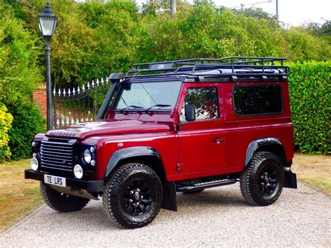 red land rover used red land rover defender for sale essex