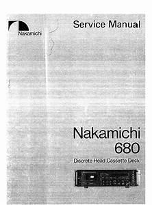 Nakamichi 680 Original Service Manual