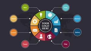 Colorful Circle Diagram Free Presentation Template By