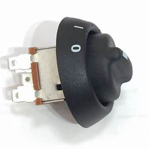 Plastic Knob And Bezel 3 Speed Rotary Heater Fan Switch