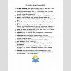 15 Reading Comprehension Skills By Kcoates  Teaching Resources