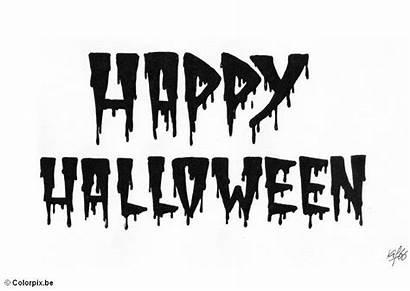 Halloween Happy Coloring Pages Kleurplaat Malvorlage Printable