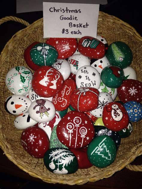 mini christmas rocks  shaunicie rock diy
