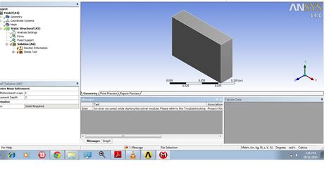 problems  static analysis  ansys