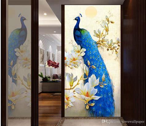 compre noble azul pavo real magnolia pintura al oleo