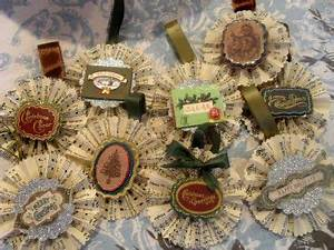 Antique Music Rosette Ornaments Craft Whimsey