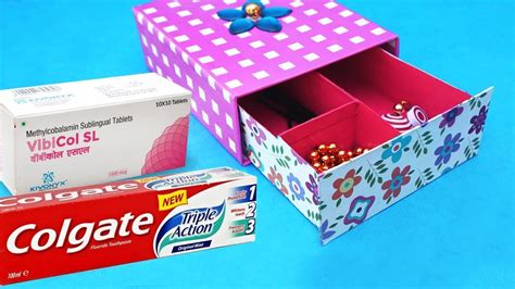 box crafts ideas easy best out of waste craft idea from toothpaste box 1165