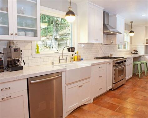 kitchens with terracotta floors beautiful modern kitchen with terracotta colored tile 6649