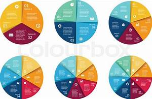 Vector Circle Infographics Set  Template For Cycle Diagram