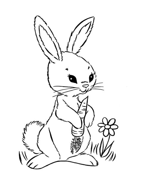 easter bunny cartoons coloring home