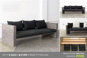 Homemade modern ep70 outdoor sofa for Homemade modern furniture design