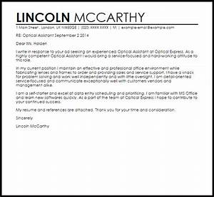 Optical assistant cover letter sample livecareer for Cover letter for optical assistant