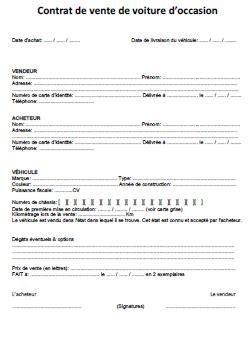 document vente voiture occasion contrat de vente de voiture d occasion pdf voiture d occasion