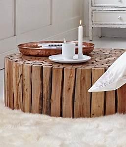 Couchtisch Holz Natur : wohnzimmer einrichten couchtisch von impressionen bild 8 living at home ~ Markanthonyermac.com Haus und Dekorationen