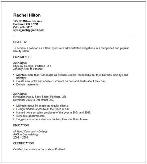 Fashion Stylist Resume Objective by 1000 Ideas About Career Objective Exles On Www Resumes And