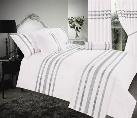 Cover Bedding by White Silver Colour Stylish Sequin Duvet Cover Luxury