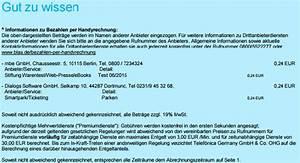 Blau De Rechnung Online : drittanbieter sperre dienste abos und faq ~ Themetempest.com Abrechnung