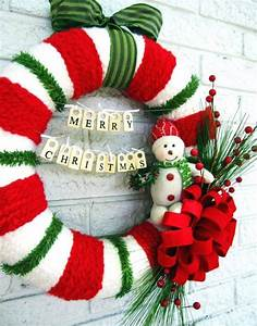 Snowman, Wreath, Ideas, U2013, How, To, Make, A, Gorgeous, Christmas, Wreath