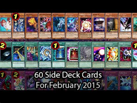 yugioh side deck list 60 side deck cards for yugioh february 2015