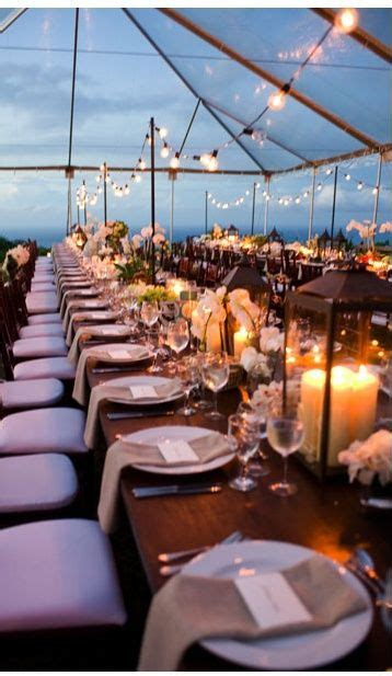 beautiful outdoor venue   evening wedding