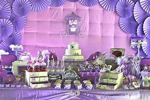 Purple Princess Party two pink canaries