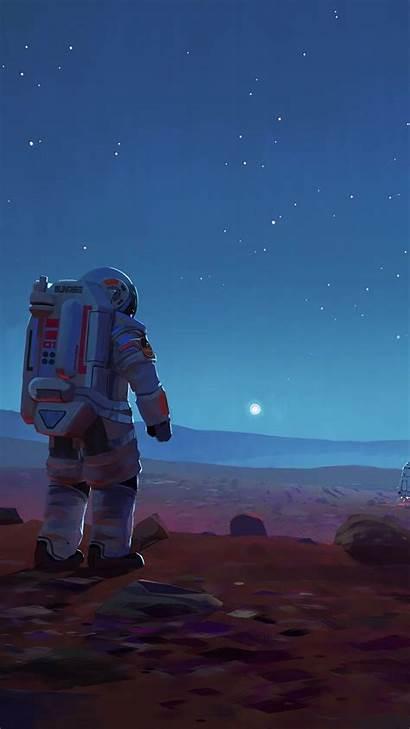 Astronaut Iphone Aesthetic Space Mars Nasa Wallpapers