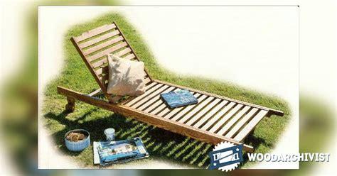 sun lounger plans woodarchivist