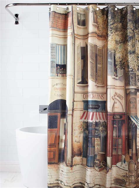 paris  corner coffee shopnostalgiashower curtain