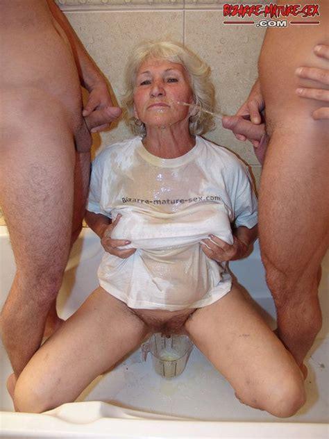 see granny get pissed under