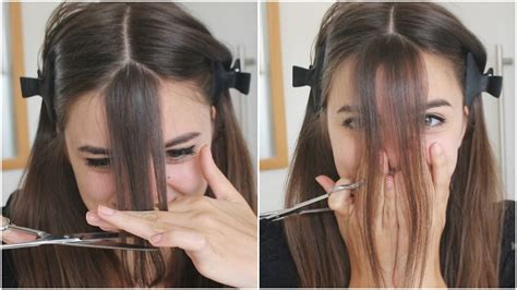 Cutting The Fringe cutting my bangs omg