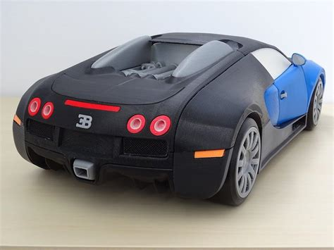 Model Car by Hbot 3d 3d Prints An Amazing Bugatti Veyron 1 8 Scale