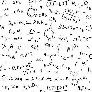 Chemistry Hand Draw Background  Seamless Vector