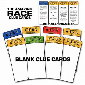 paper perfection free quotamazing racequot birthday party With the amazing race clue template