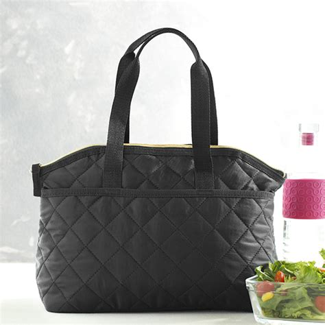 quilted lunch bag black quilted lunch tote mixed bag designs