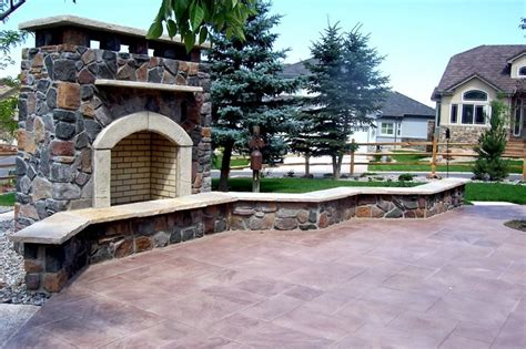 outdoor fireplace landscaping ideas outdoor fireplace arvada co photo gallery landscaping network