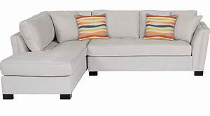 Calvin heights platinum 2 pc sectional contemporary for Olympian platinum 2pc sectional sofa dimensions