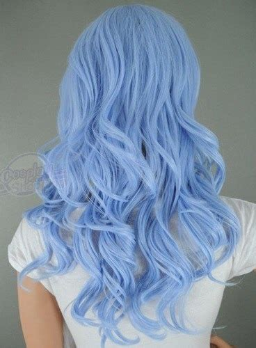 Curly Blue Hair On Tumblr