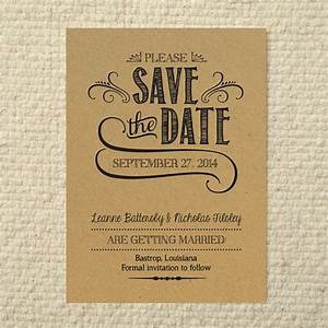 diy kraft paper wedding save the date handlettered rustic love printable pdf template With rustic save the date templates free