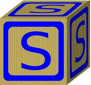 letter s block clip art at clkercom vector clip art With block letter art
