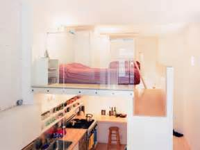 Two Floor Bed Loft Bed Turns Single Floor Studio To Two Level Apartment