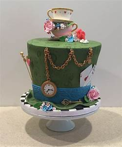 Mad Hatter Tea Party Birthday Cake - CakeCentral com