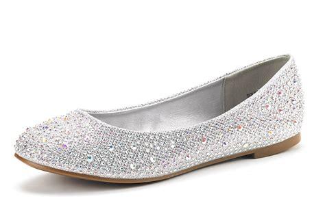 Flats Shoes : Soleshine Women's Casual Rhinestone Solid Ballet Comfort
